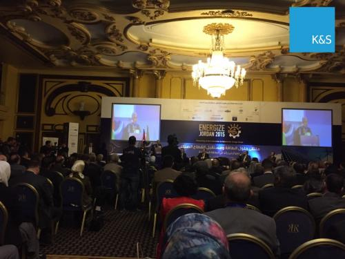 K&S speaks about wind energy at the Energize Jordan 2015 day